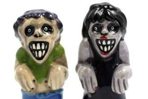 The Zombie Salt and Pepper Shakers are Perfect for Horror Fanatics