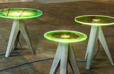 Illuminating Glass Furniture