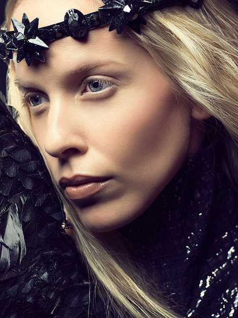Futuristically Gothic Photography - Emma Falkenstrom by Atif Abu-Samra is Gorgeously Regal