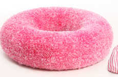 Cushy Cake Couches - Relax into a Deliciously Deceptive Donut Chair for Extra Sweet Dreams