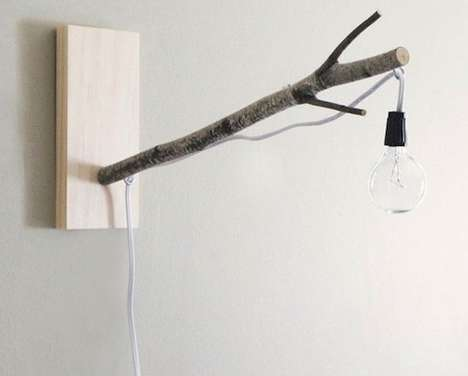 Tree Bough Lanterns - The White Birch Branch Lamp Brings the Outdoors to the Home