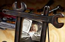 Manly Picture Frames - This Tough Guy Photo Frame Will Suit Any Working Man's Decor