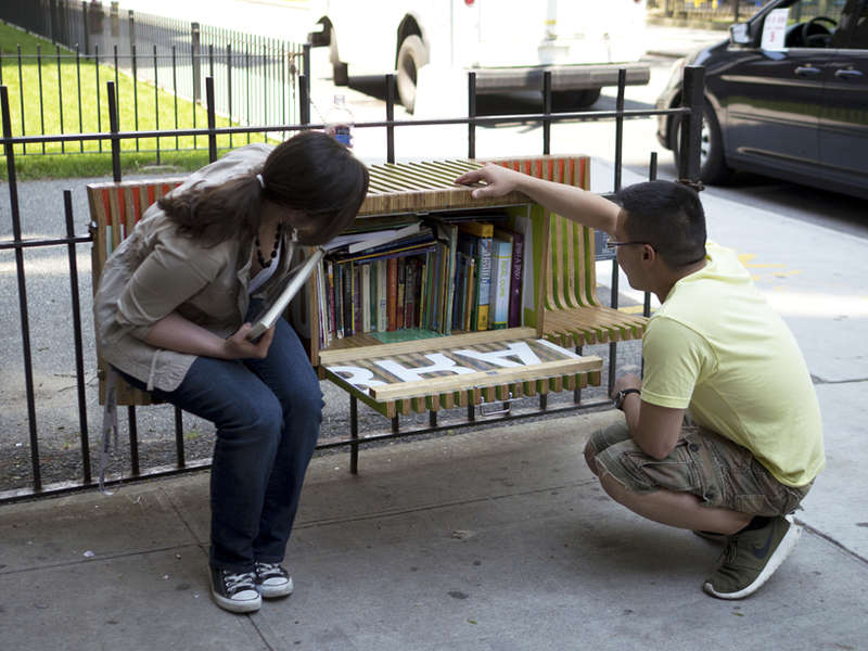 Book-Filled Benches