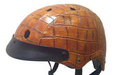 Reptilian-Inspired Helmets