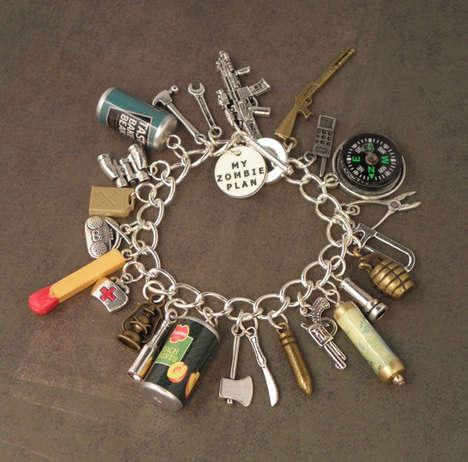 Apocalypse-Inspired Jewelry - This Zombie Survivor Charm Bracelet is Perfect for Apocalypse Lovers