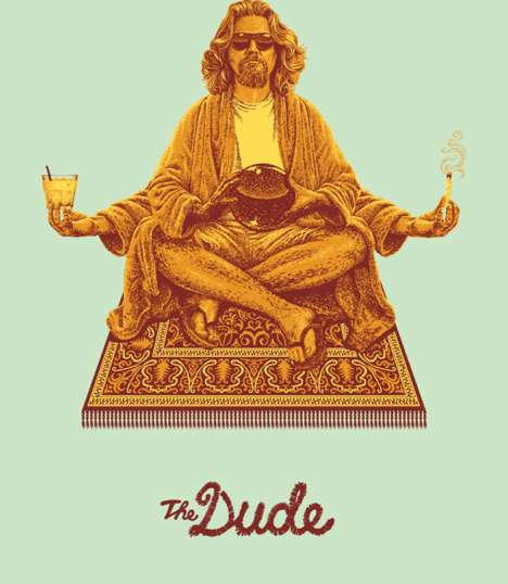 Slacker Iconography Illustrations - The Lebowski Series Glorifies Apathetic Cult Film Characters