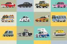 Pop Culture Vehicle Posters - Try to Name Every Famous Car in these Drawings by Scott Park