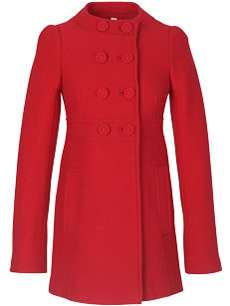 Flame Red is the New Orange - French Connection Flame Coat
