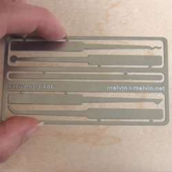 Lock Pick Kit Business Card
