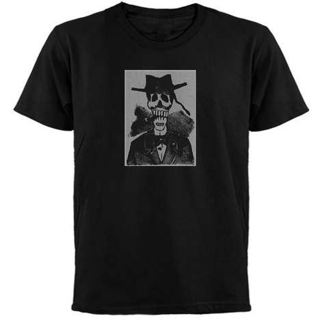 Cigar Smoking Skeleton Day of The Dead T-Shirt