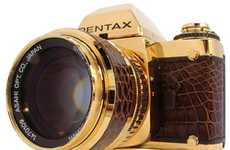 18ct Gold and Leather SLR - Pentax 60th Anniversary SLR