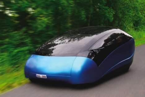 Super Hybrid Cars - Antro Solo is Solar, Human & Gas-Electric
