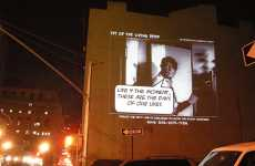 Giant Scale Public Texting - NYC Artist Asks Londoners About Street Crime