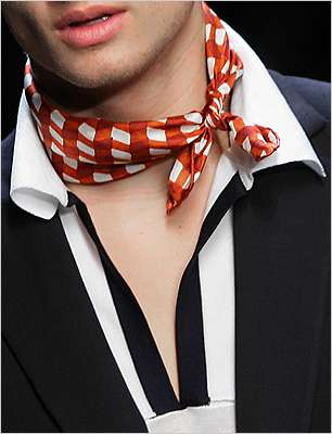 Man Scarves - Bottega Veneta Highlights at Milan Fashion Week