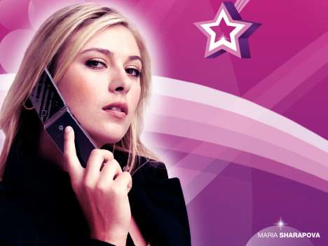 Celebrity Cell Phone Ads As Wallpaper - Maria Sharapova for Sony Ericsson Z555i