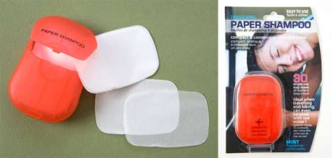 Paper Shampoo - Airport Security Safe Hygiene Innovations