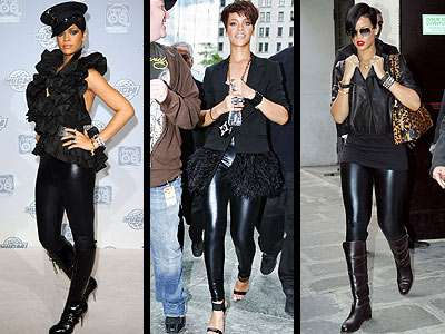 Latex Leggings - Celebs Love 'Members Only' Liquid Leggings