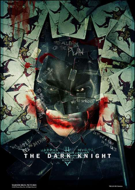 Defaced Film Posters - Dark Knight Promo Posters