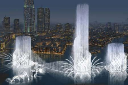 50 Story Water Fountains - Dubai To Blow Water into the Desert Air