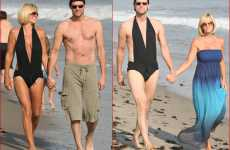 Celebrity Mankinis - Jim Carrey in Jenny McCarthy's Bikini