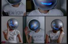 Emoticon Helmets to Hide Your Feelings - The Mask of Emotion