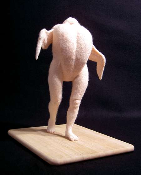 Plucked Chickens Made of Wool