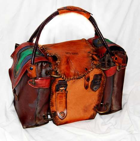 Aged Leather Transformer Bags - Ante Kovac's Iron Age Fashion