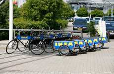 Ikea Rental Bikes - Brand Colors and Trailer Included