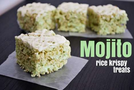 Mojito Rice Krispie Treats