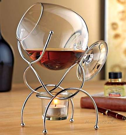 Alcohol Warming Kits - These Brandi Snifter Systems are Perfect for the Serious Alcohol Connoisseur