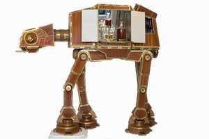 The AT-AT Display Brings Together the World of Sci-Fi and Alcohol
