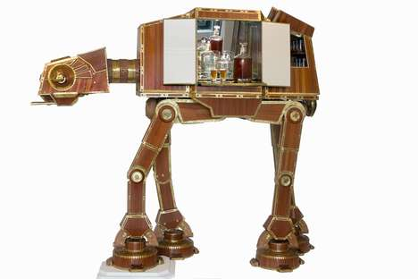 Sci-Fi Alcohol Cabinets - The AT-AT Display Brings Together the World of Sci-Fi and Alcohol