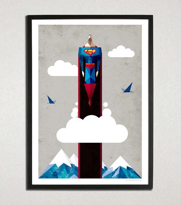 Minimalist Superhero Designs