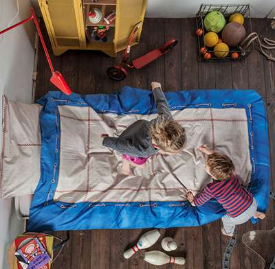Bouncy Trampoline-Print Bedding - This Cute Kids Bedding by 'Snurk' Looks Just Like a Trampoline