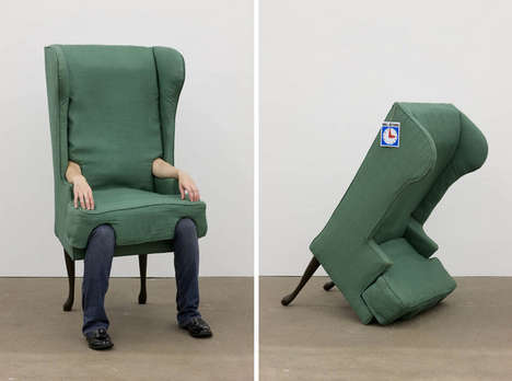 Human Furniture Artworks - The Arm Chair by Jamie Isenstein Takes Its Name Literally
