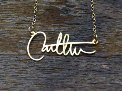 Customized Calligraphy Necklaces - This 'Brevity' Accessory Uses Signatures as Its Charm of Choice