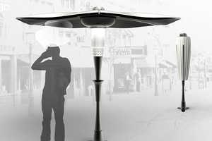 The 'Spiro' Umbrella Purifies the Air Around Smokers