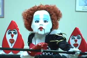 The Dancing Queen Performs Hit Songs Using Life-Size Puppets
