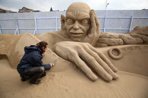 The Weston Sand Sculpture Festival Showcases Beachy Talent