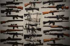 Violent Camouflage Exibitions - Artist Liu Bolin Became One with Weapons in the