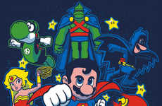 Geeky Hero Mashup Art - This Nintendo Super Mario DC Mash-Up Will Please Many Nerds
