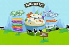 Metropolitan-Themed Ice Cream - The Ben & Jerry's City Churned Campaign Crowdsources Locals