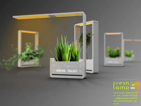 Plant-Incorporated Lighting - The Fresh Lamp by Chun Jiang Yao Brings Nature Indoors