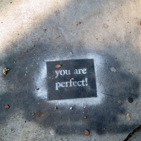Cute Complimentary Street Art - This Life-Affirming Art Demonstrates the Kindness of Strangers