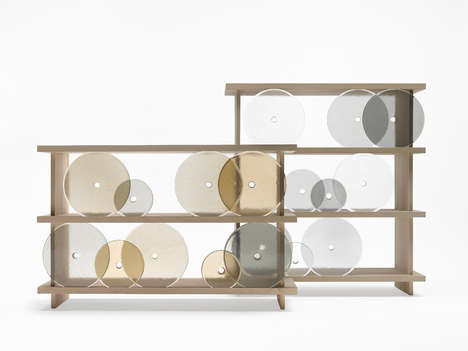 Geometric Shelving Units