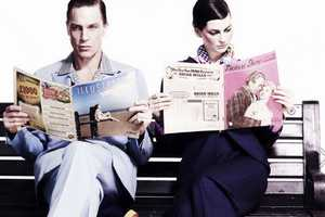 The 'Forties Something' Photo Shoot Showcases Romantic Vintage Looks
