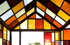 Sugary Sweet Solarium Designs - This Greenhouse Design is Made from Panels of Caramelized Sugar