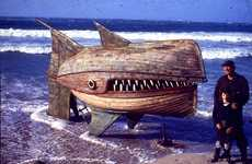Wooden Whale-Shaped Sculptures