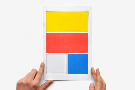 De Stijl Inspired Graphic Novels - The Untitled Comic Book by Frederique Rusch Embraces Minimalism