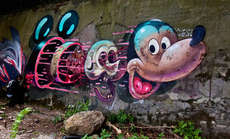 95 Vibrant Street Art Creations - From Street Art Nightclubs to Cement Mounted Sea Creatures